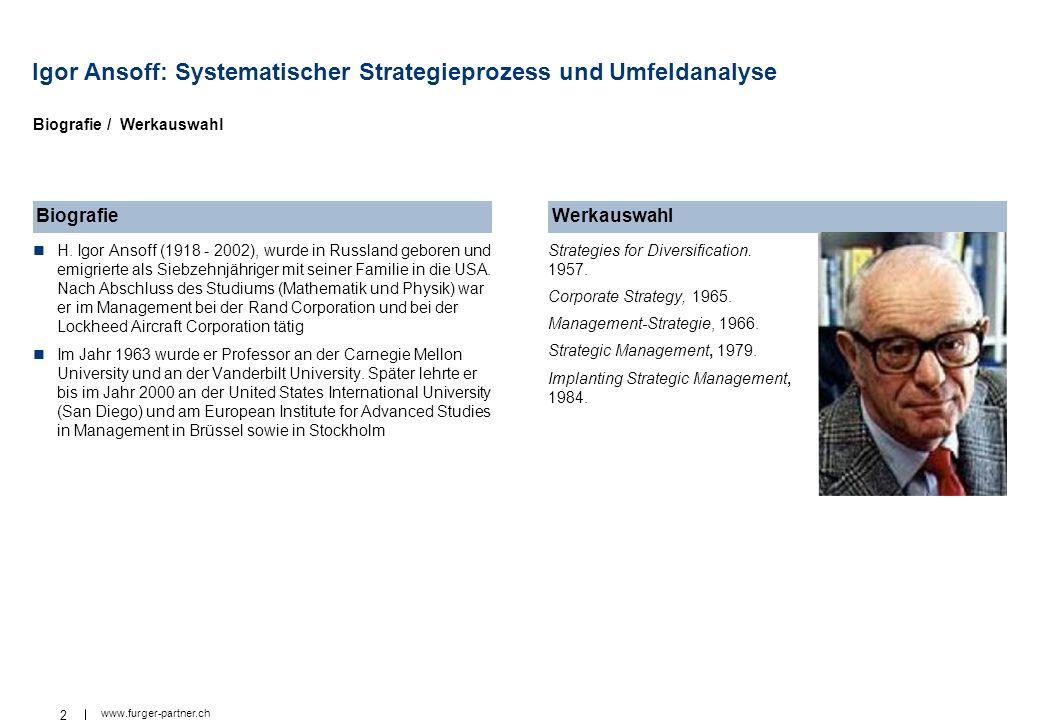 Igor Ansoff: Systematischer Strategieprozess und Umfeldanalyse