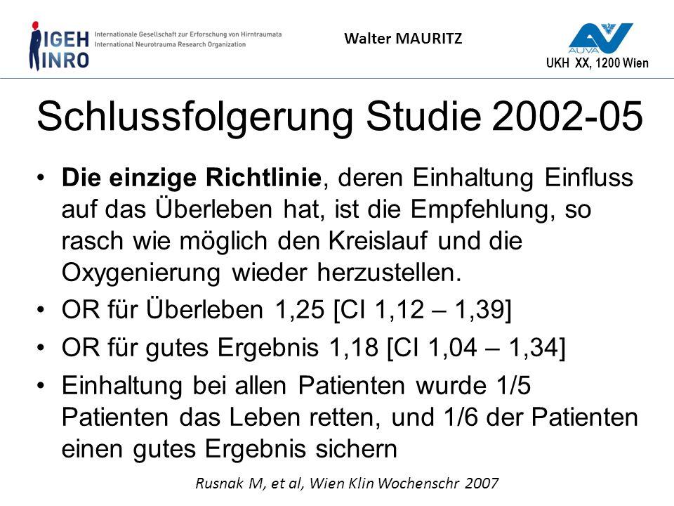 Schlussfolgerung Studie 2002-05