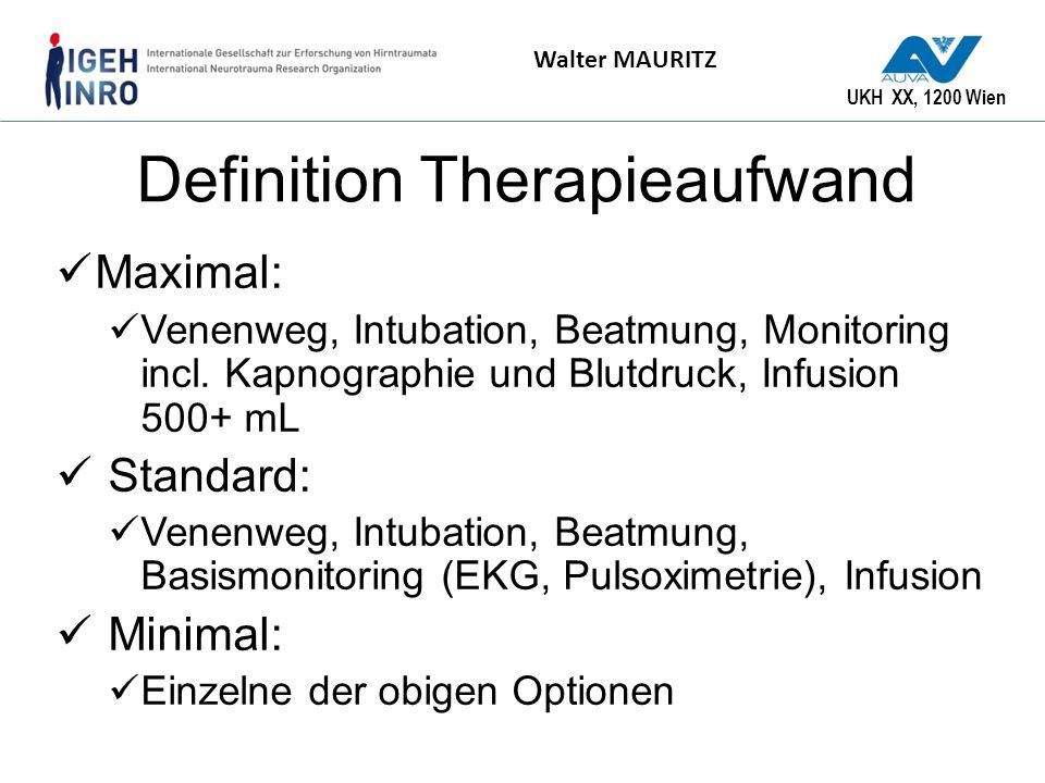 Definition Therapieaufwand