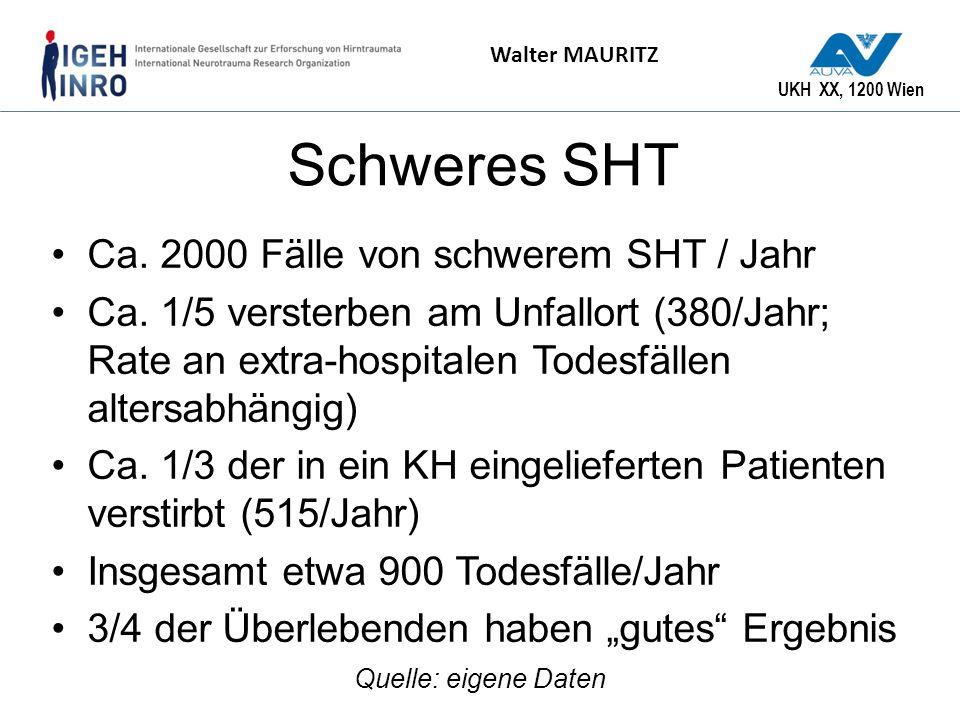 Schweres SHT Ca. 2000 Fälle von schwerem SHT / Jahr