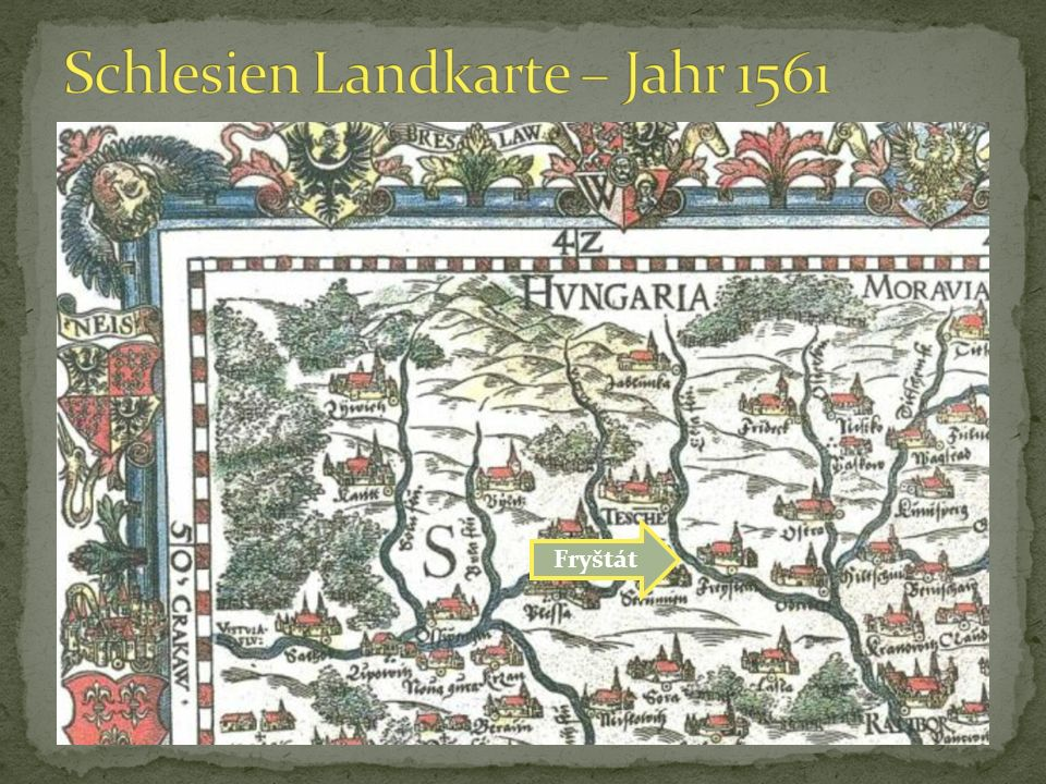 Schlesien Landkarte – Jahr 1561