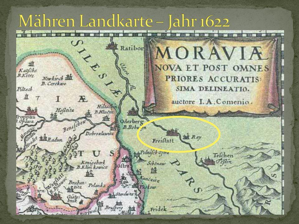 Mähren Landkarte – Jahr 1622