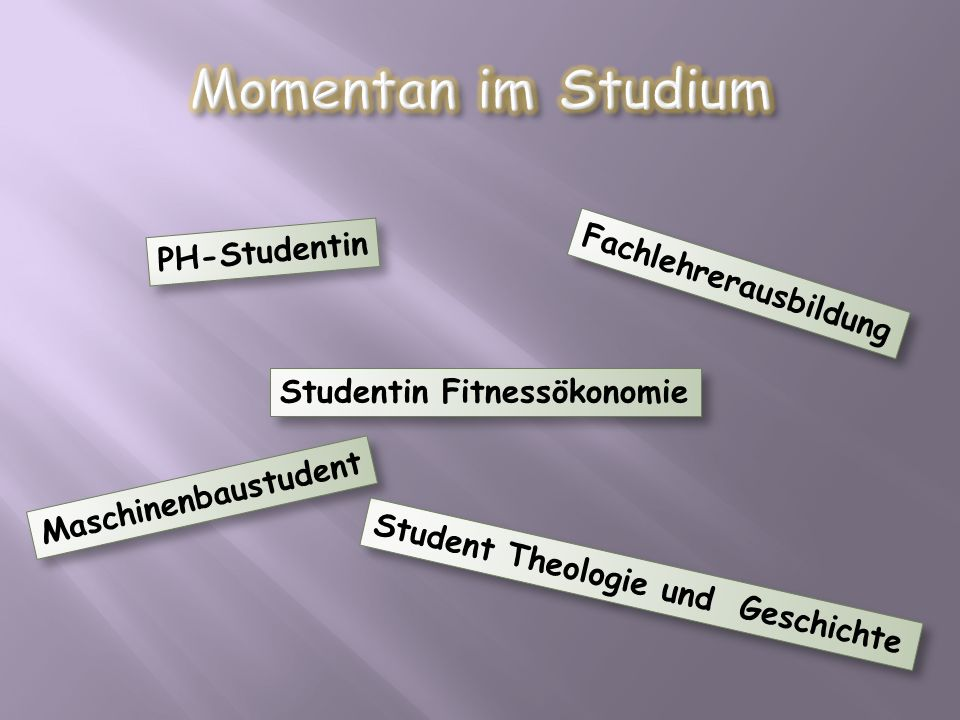 Momentan im Studium PH-Studentin Fachlehrerausbildung