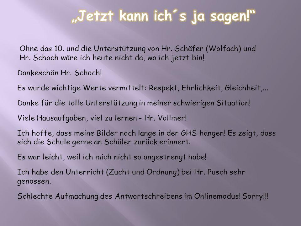 """""""Jetzt kann ich´s ja sagen!"""