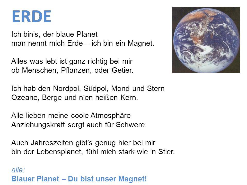 ERDE Ich bin's, der blaue Planet