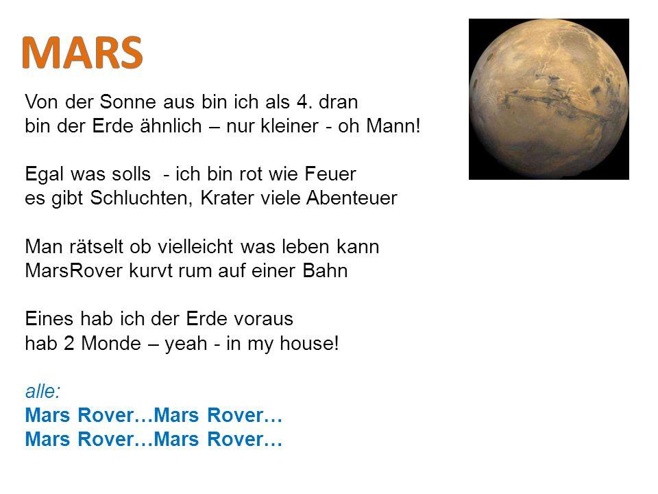 MARS Von der Sonne aus bin ich als 4. dran