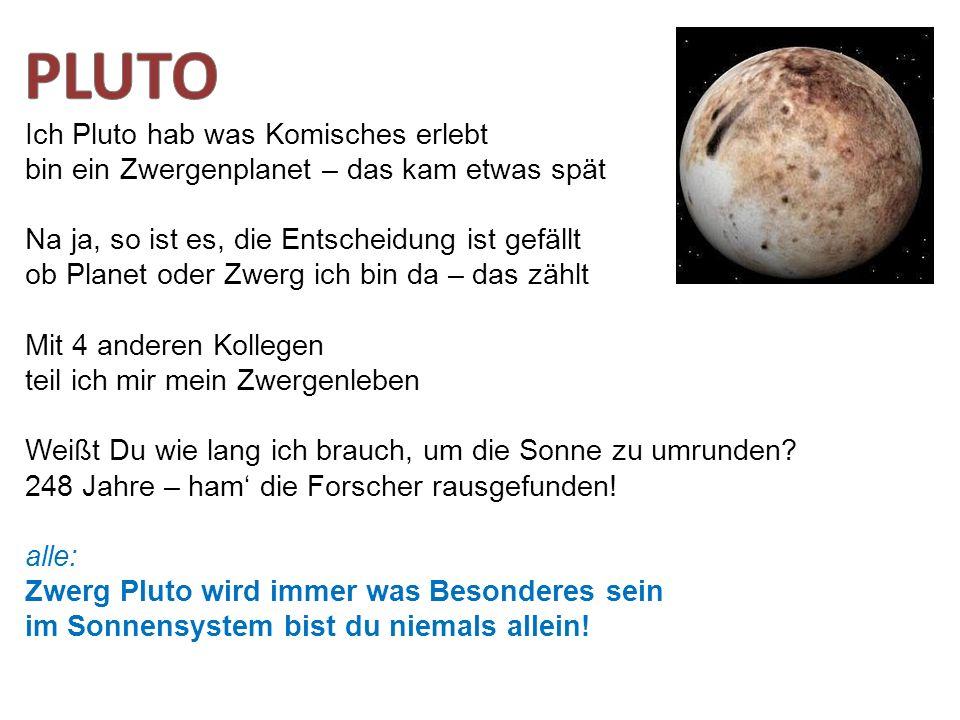 PLUTO Ich Pluto hab was Komisches erlebt
