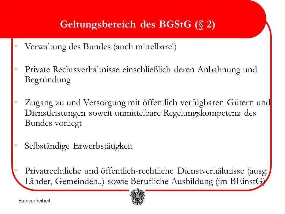Geltungsbereich des BGStG (§ 2)