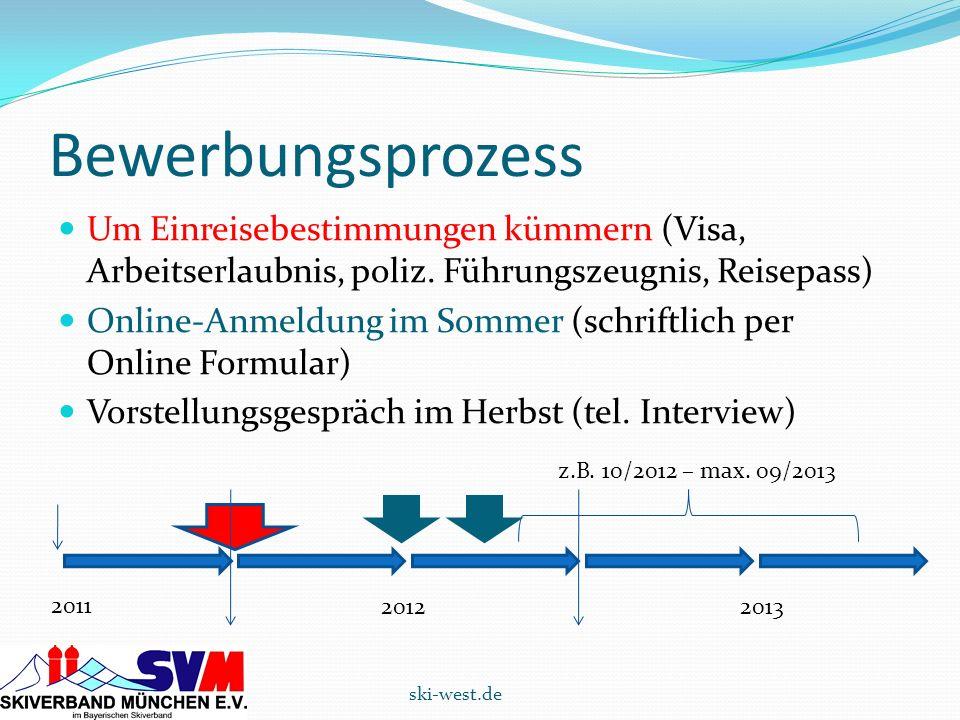 Bewerbungsprozess Um Einreisebestimmungen kümmern (Visa, Arbeitserlaubnis, poliz. Führungszeugnis, Reisepass)