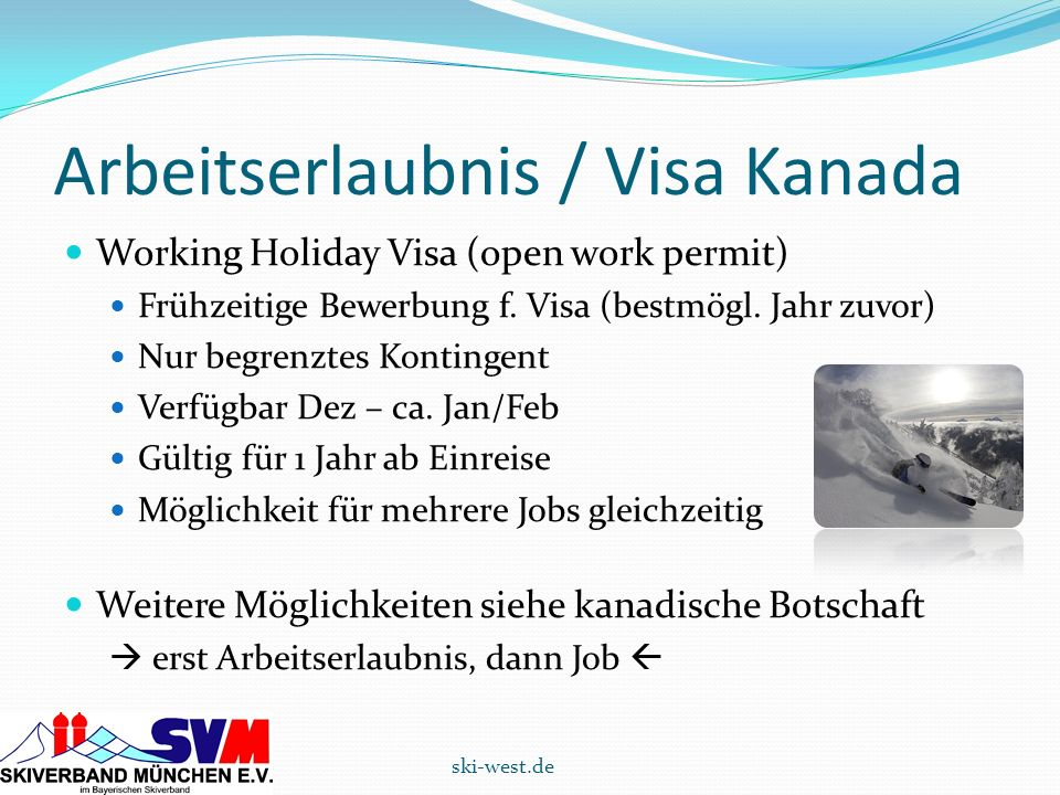 Arbeitserlaubnis / Visa Kanada