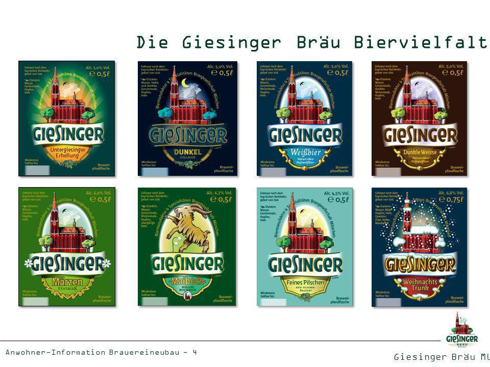 Die Giesinger Bräu Biervielfalt