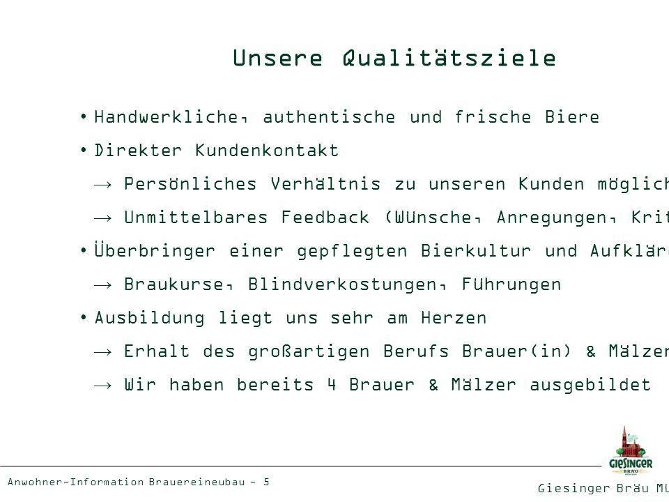 Unsere Qualitätsziele