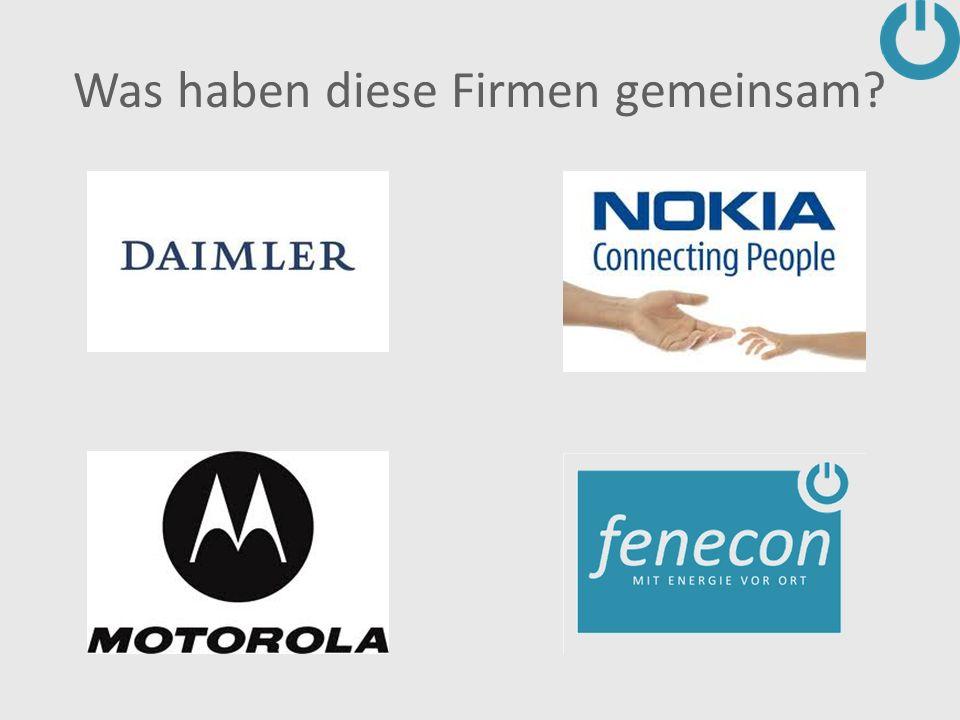 Was haben diese Firmen gemeinsam