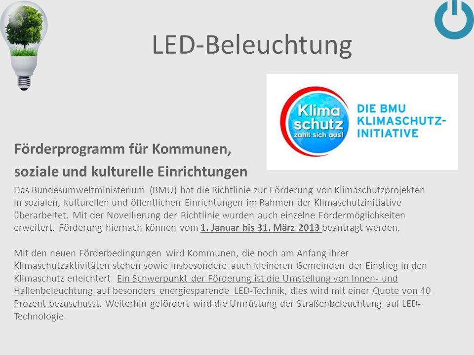 LED-Beleuchtung Förderprogramm für Kommunen,