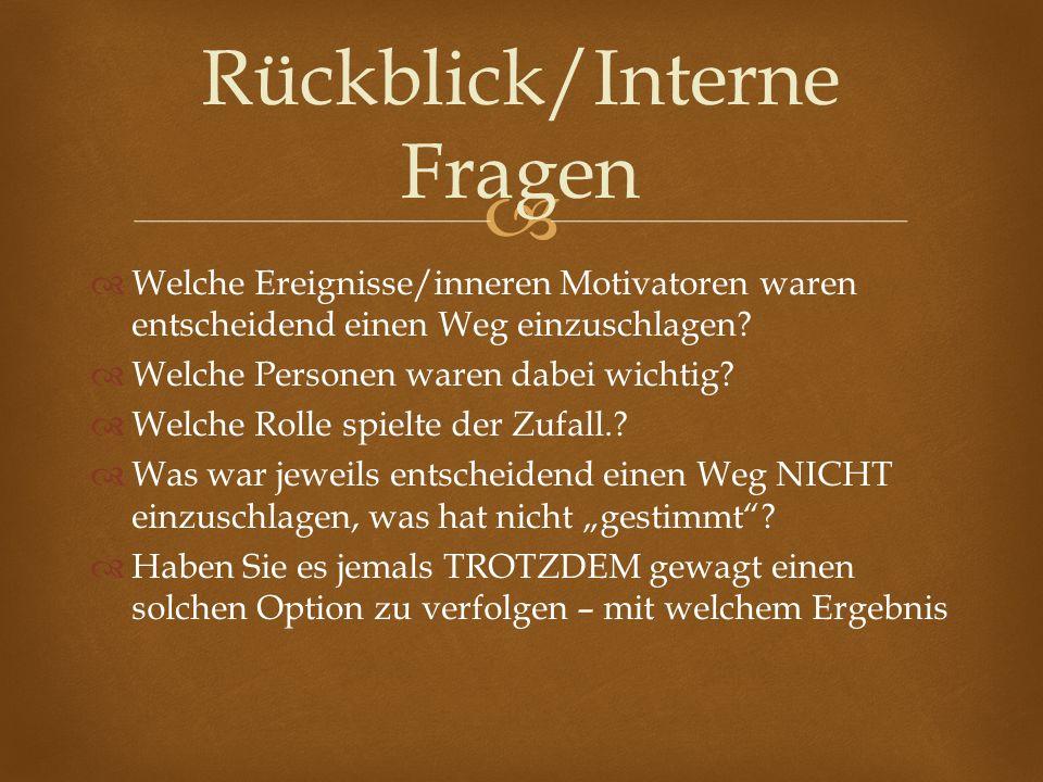 Rückblick/Interne Fragen