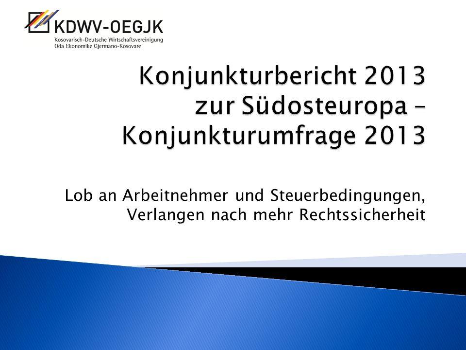 Konjunkturbericht 2013 zur Südosteuropa – Konjunkturumfrage 2013