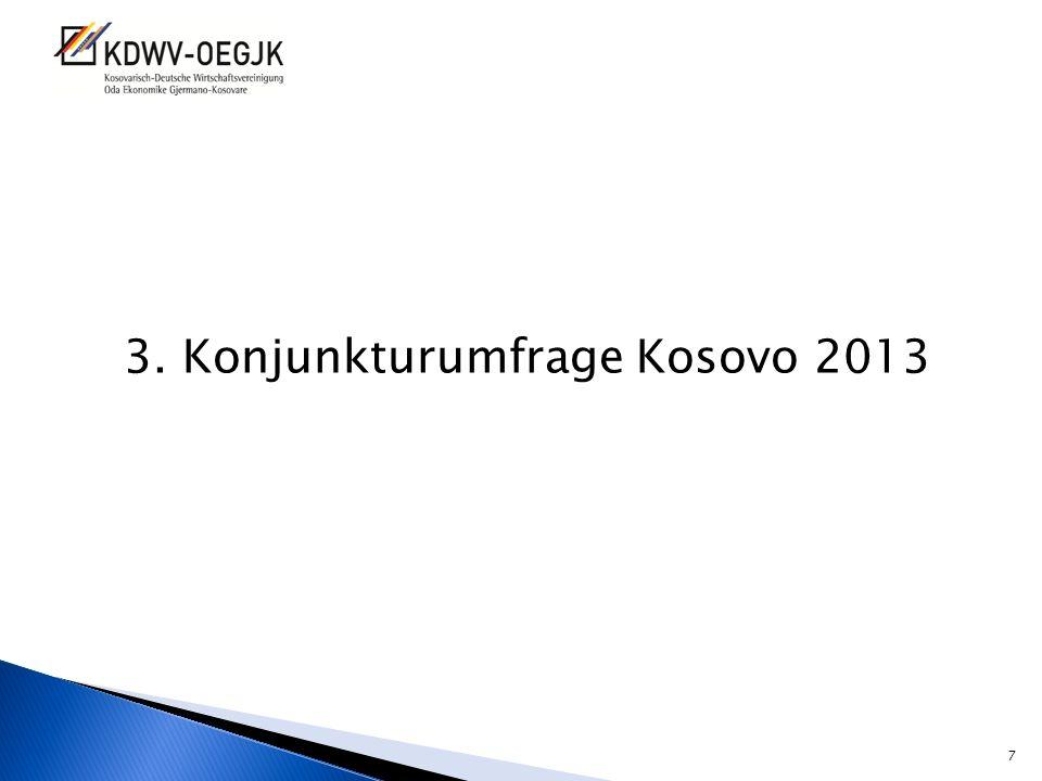 3. Konjunkturumfrage Kosovo 2013