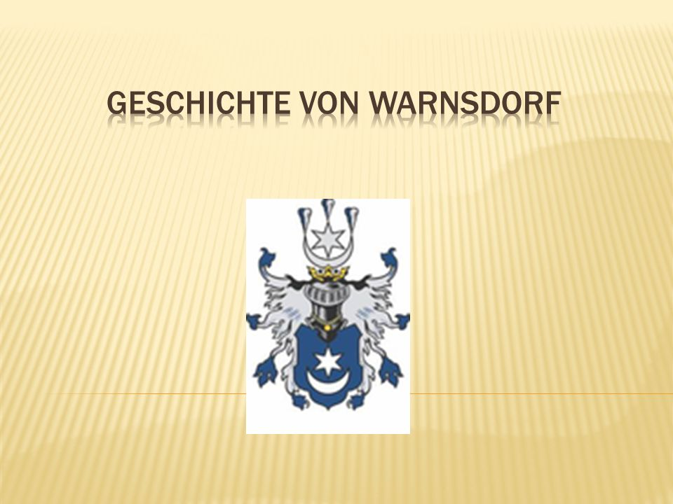 Geschichte von warnsdorf
