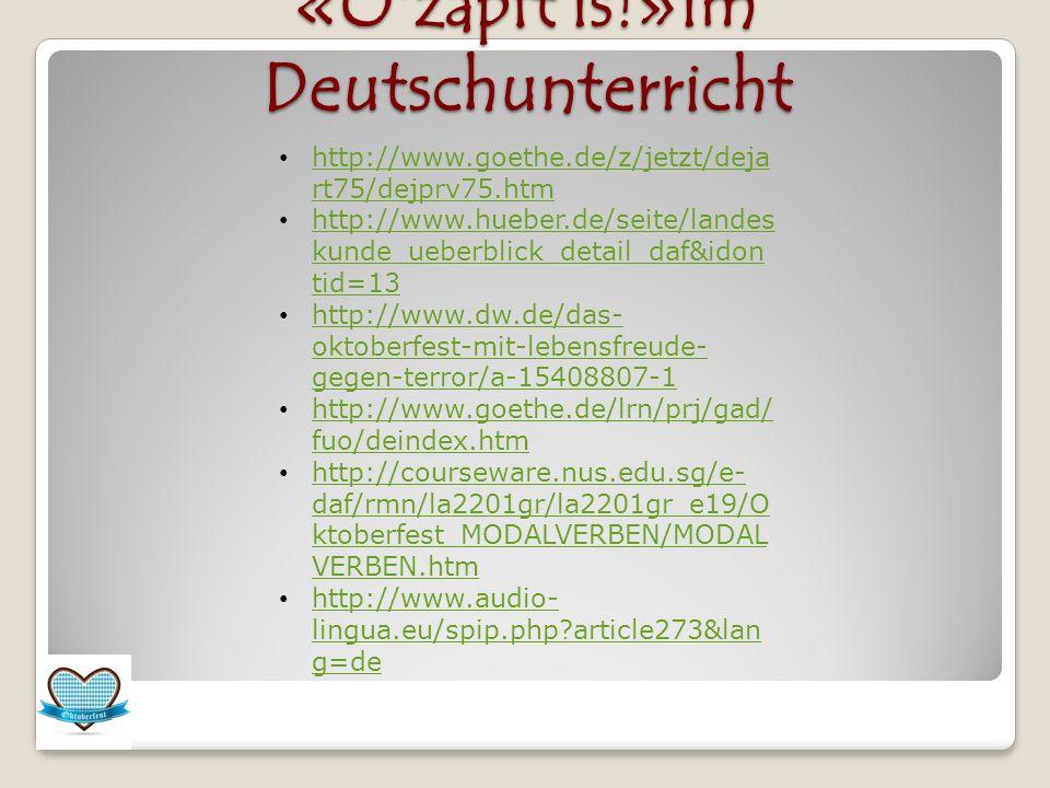 «O zapft is!»im Deutschunterricht