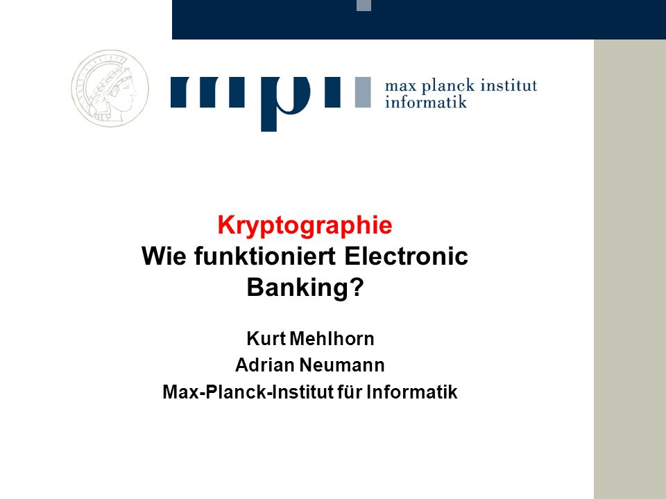 Kryptographie Wie funktioniert Electronic Banking
