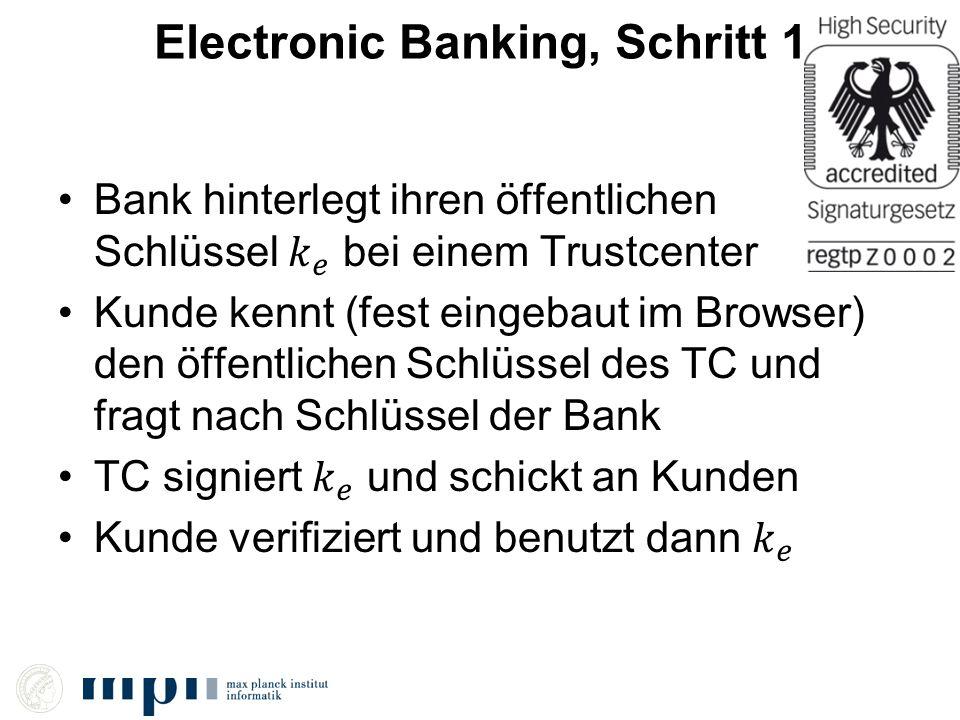 Electronic Banking, Schritt 1