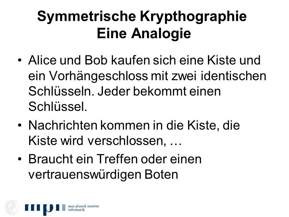 Symmetrische Krypthographie Eine Analogie