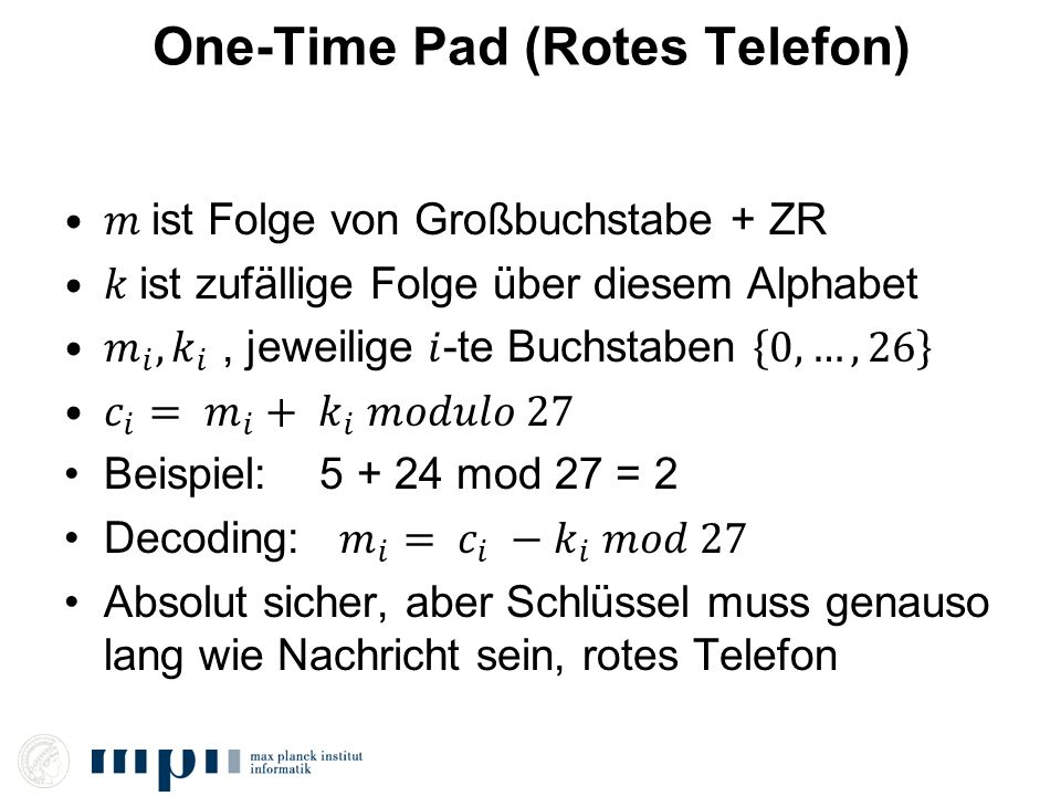 One-Time Pad (Rotes Telefon)