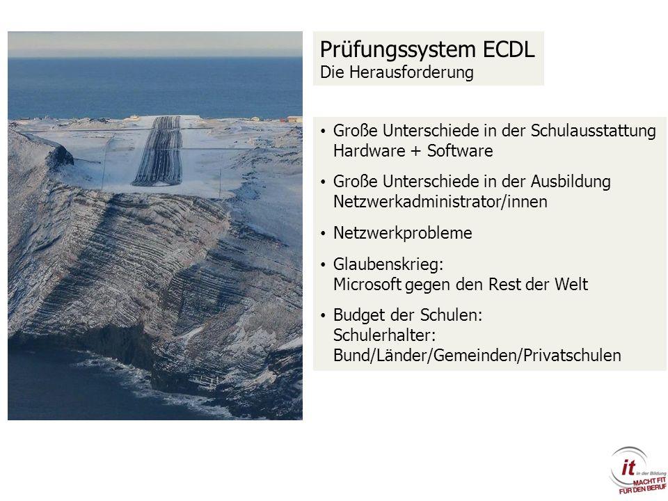 Prüfungssystem ECDL Die Herausforderung