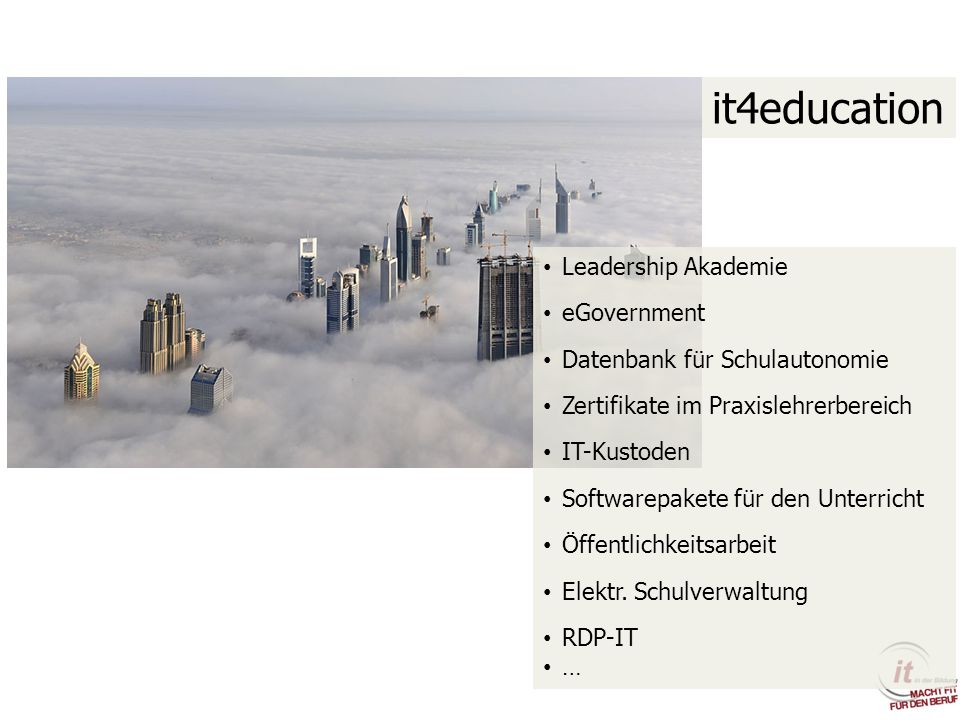 it4education Leadership Akademie eGovernment