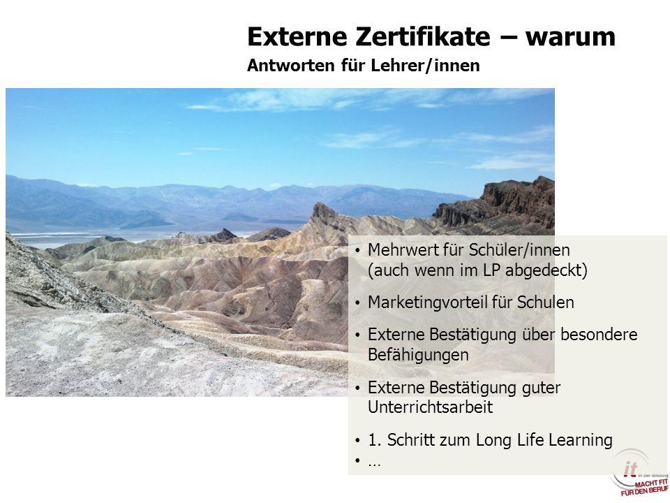 Externe Zertifikate – warum
