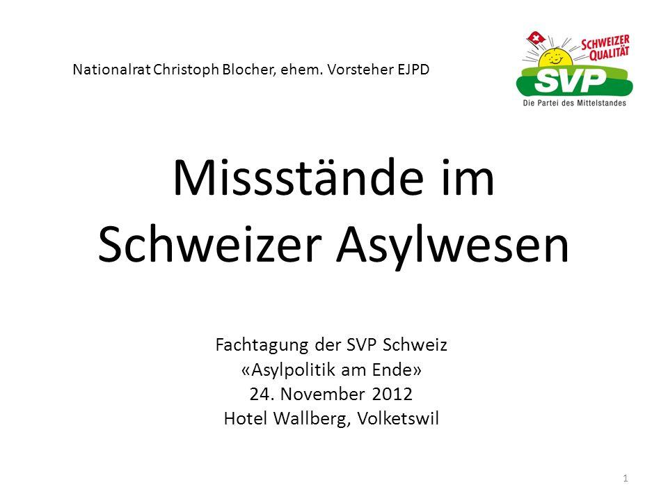 Missstände im Schweizer Asylwesen