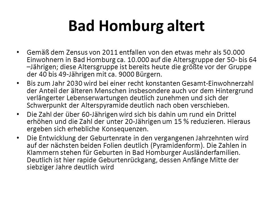 Bad Homburg altert