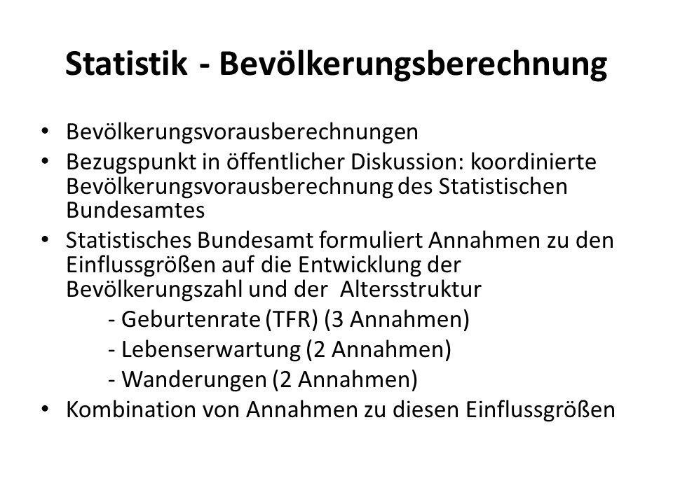 Statistik - Bevölkerungsberechnung