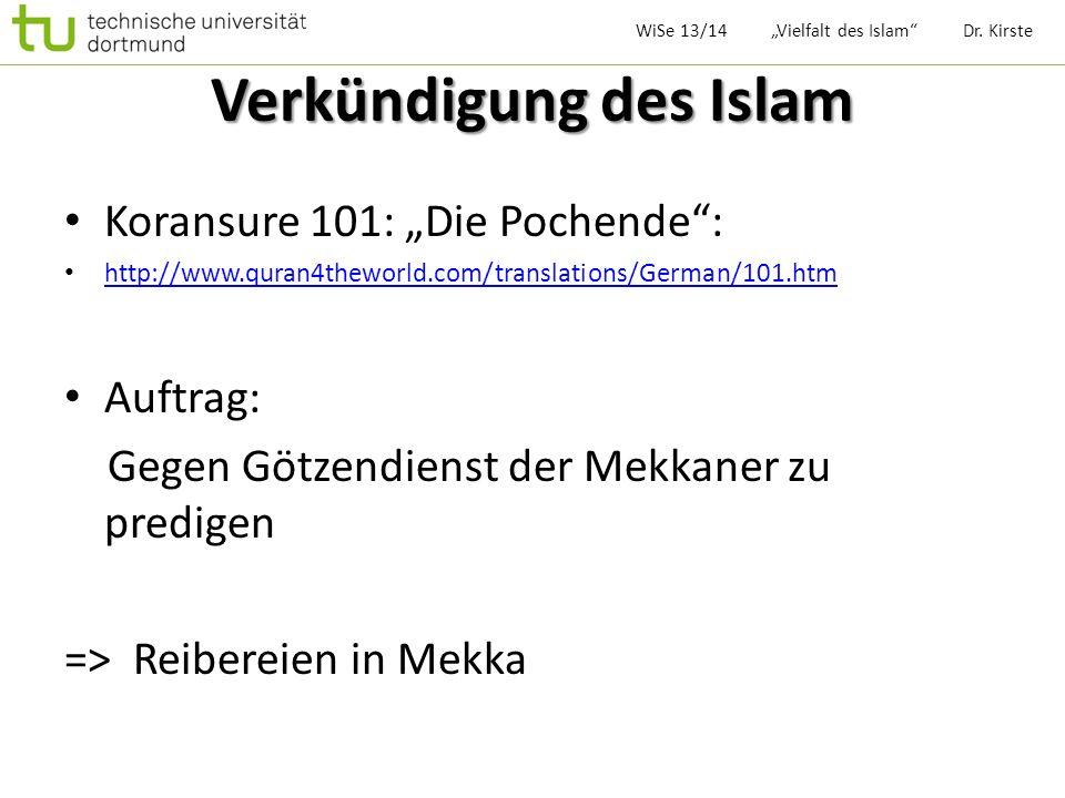 Verkündigung des Islam