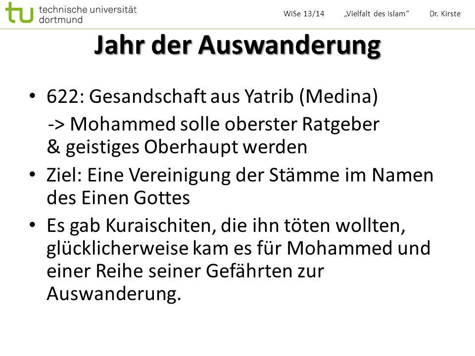 Jahr der Auswanderung 622: Gesandschaft aus Yatrib (Medina)