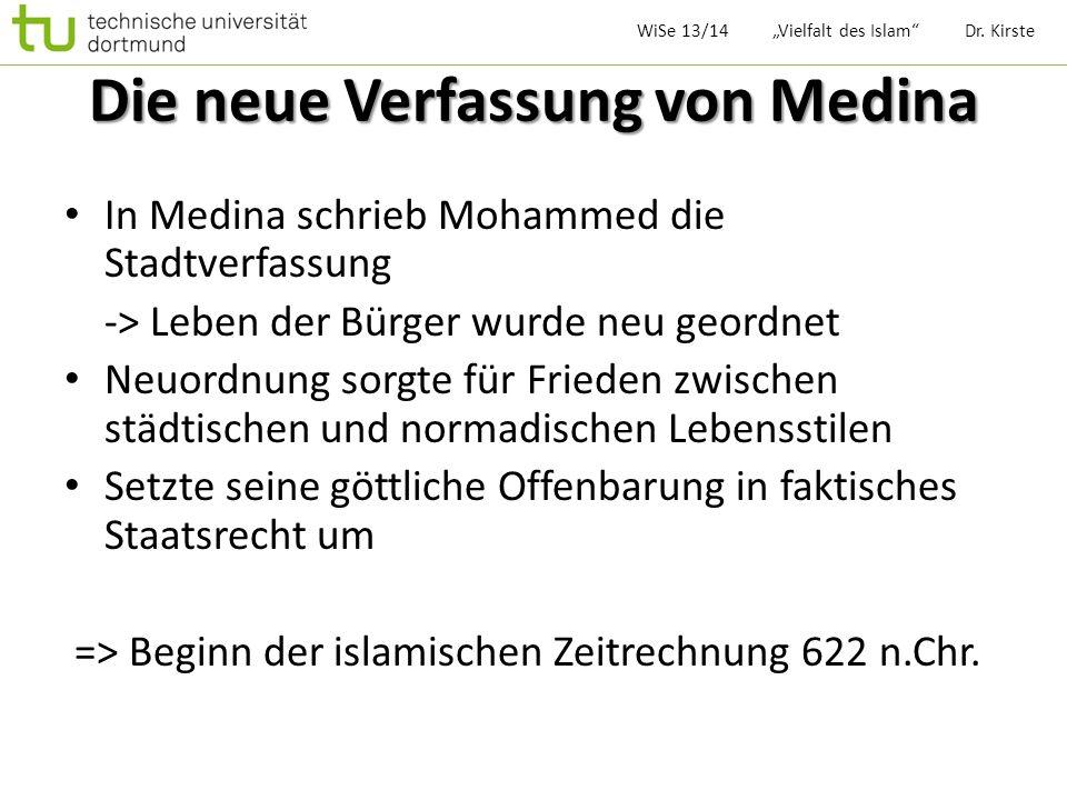 Die neue Verfassung von Medina