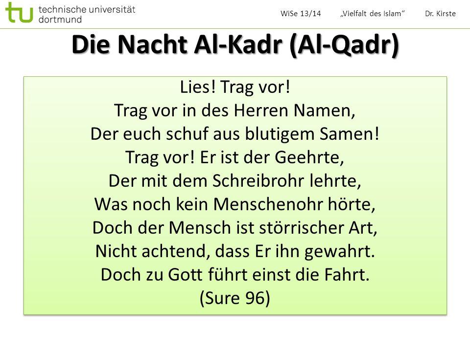 Die Nacht Al-Kadr (Al-Qadr)