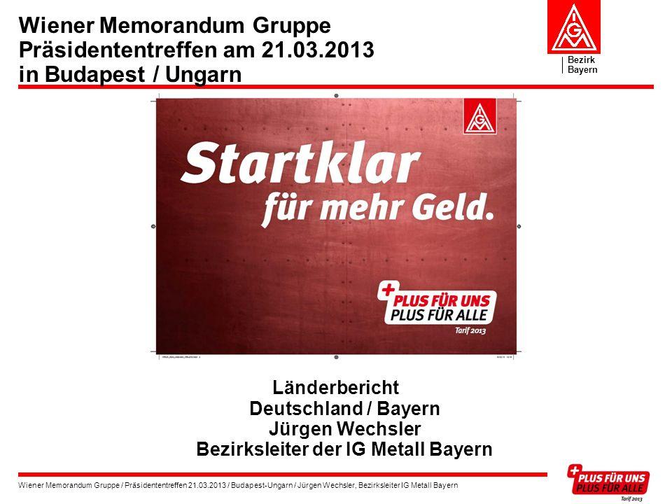 Wiener Memorandum Gruppe Präsidententreffen am 21. 03