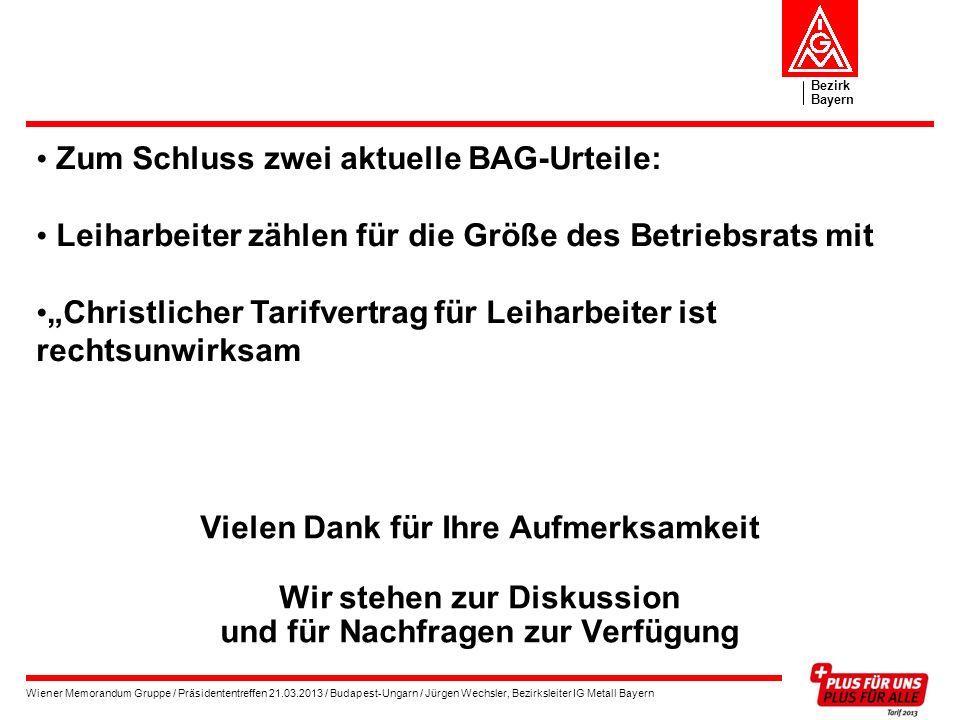 Zum Schluss zwei aktuelle BAG-Urteile: