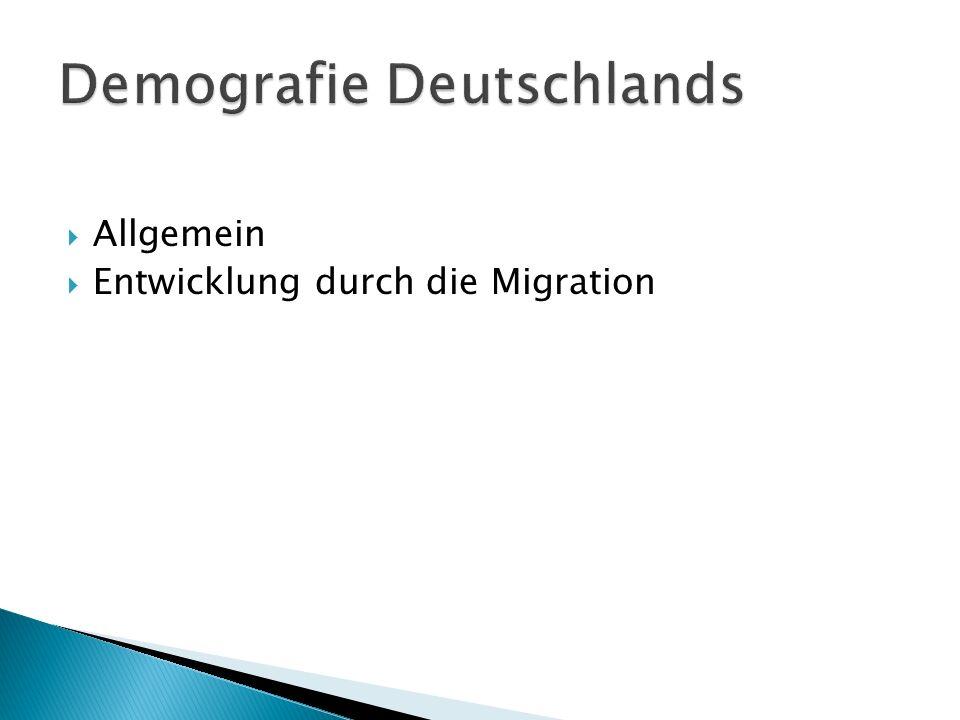 Demografie Deutschlands