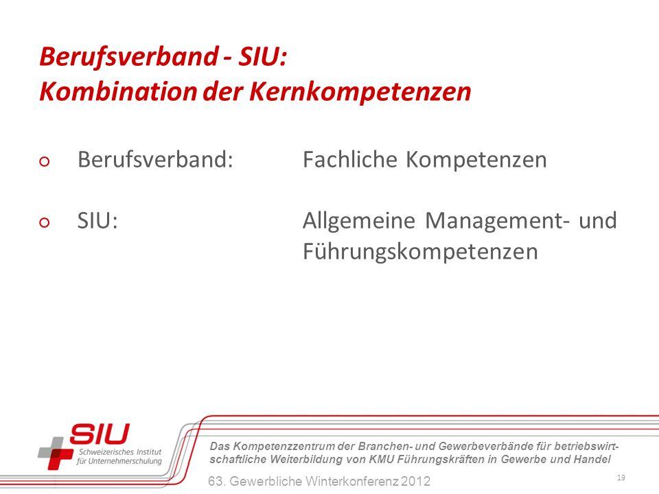 Berufsverband - SIU: Kombination der Kernkompetenzen