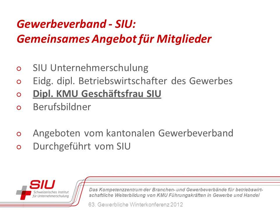 Gewerbeverband - SIU: Gemeinsames Angebot für Mitglieder