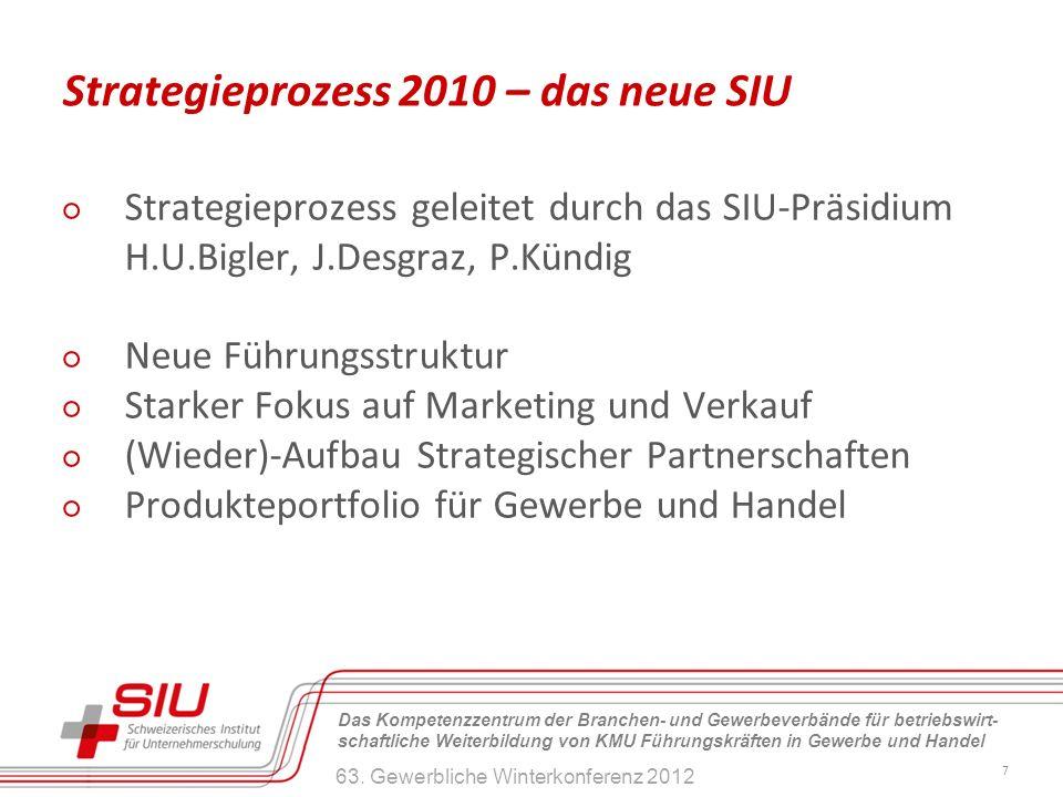 Strategieprozess 2010 – das neue SIU