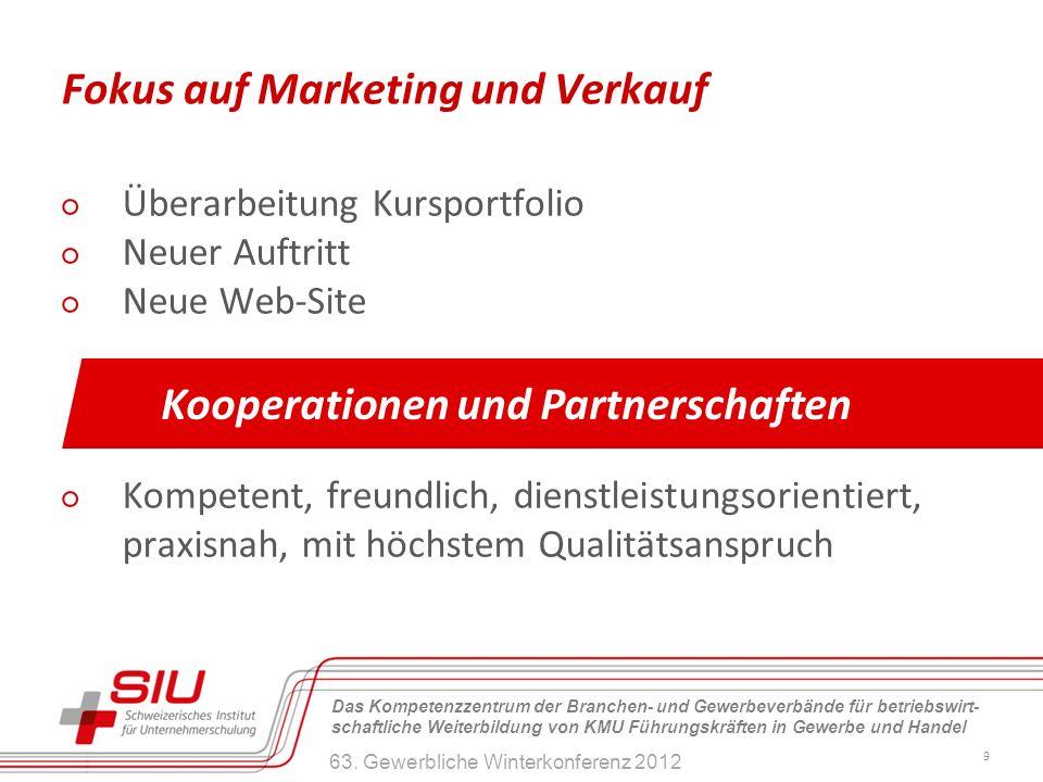 Fokus auf Marketing und Verkauf