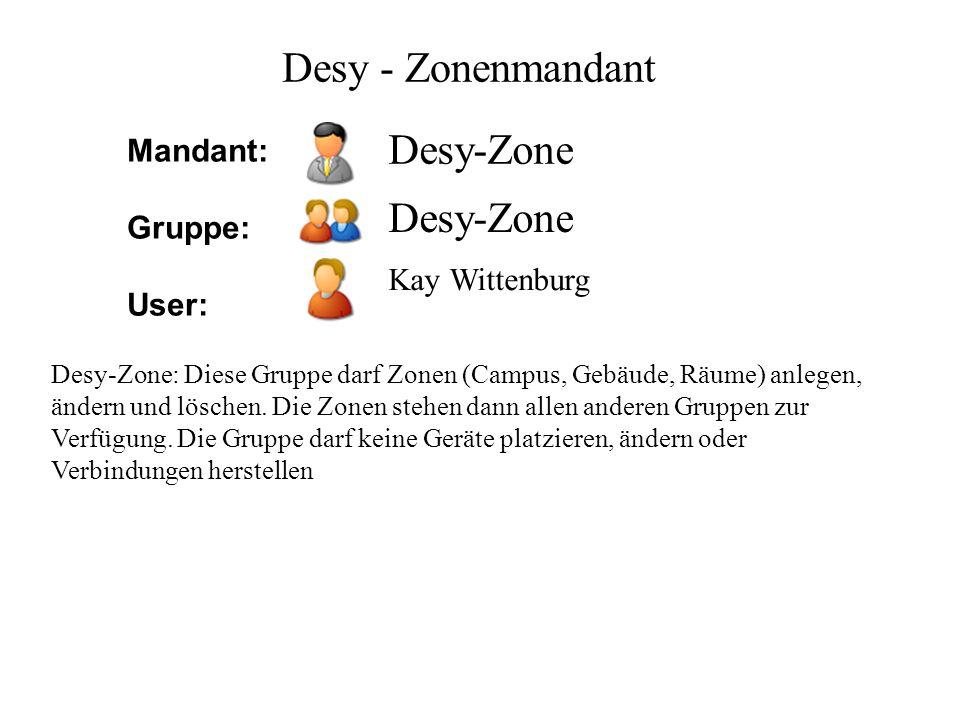 Desy - Zonenmandant Desy-Zone Desy-Zone Mandant: Gruppe: User: