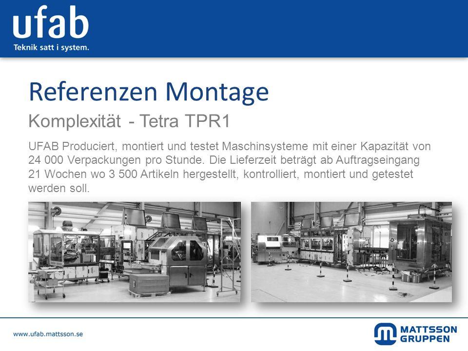 Referenzen Montage Komplexität - Tetra TPR1