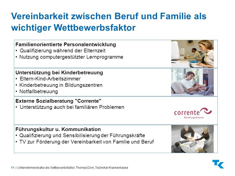Vereinbarkeit zwischen Beruf und Familie als wichtiger Wettbewerbsfaktor