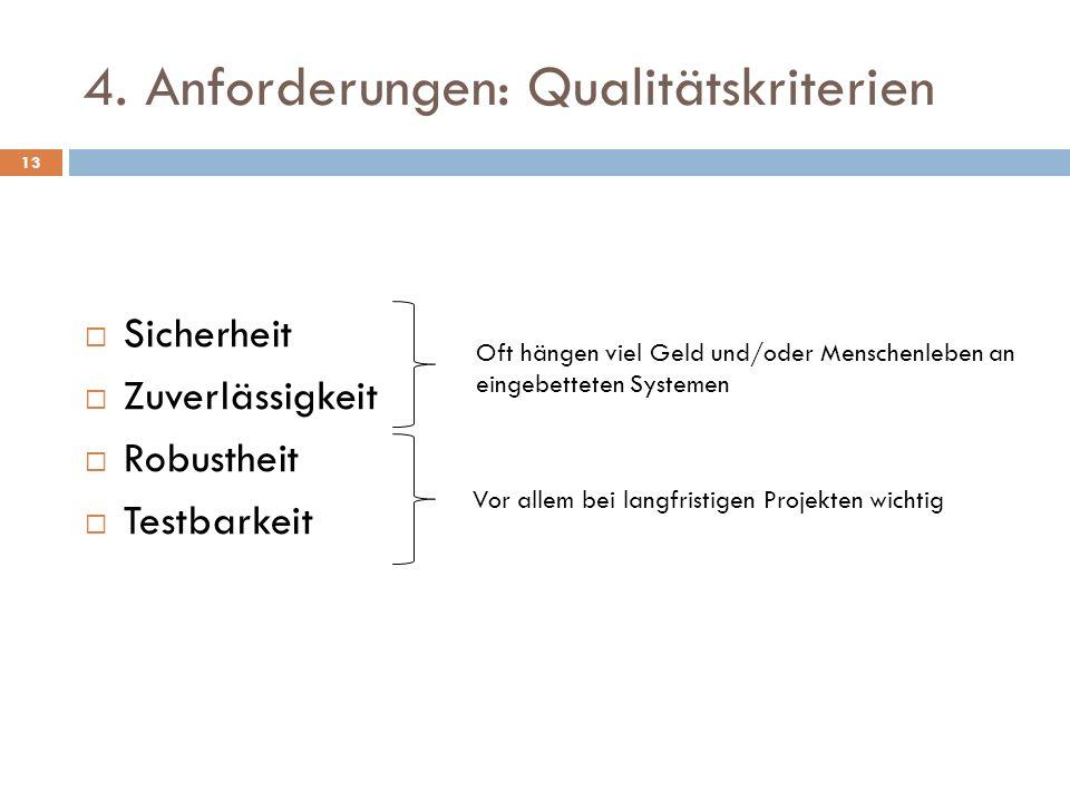 4. Anforderungen: Qualitätskriterien