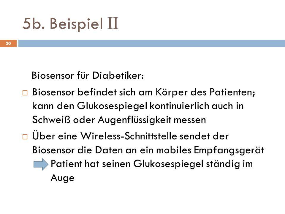 5b. Beispiel II Biosensor für Diabetiker: