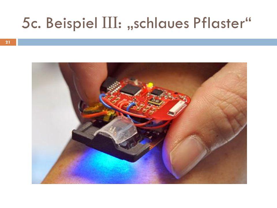 """5c. Beispiel III: """"schlaues Pflaster"""